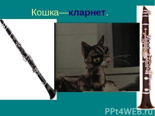 Кошка—кларнет.