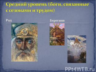 Средний уровень (боги, связанные с сезонам и и трудом) Род Берегиня