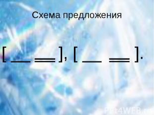 Схема предложения [ __ ], [ __ ].