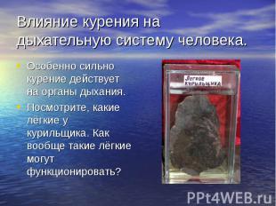 Влияние курения на дыхательную систему человека. Особенно сильно курение действу