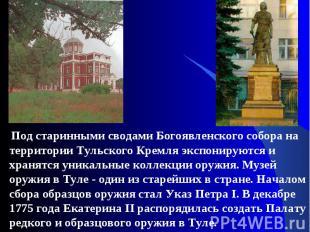 Под старинными сводами Богоявленского собора на территории Тульского Кремля эксп