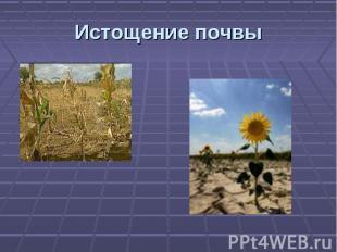 Истощение почвы