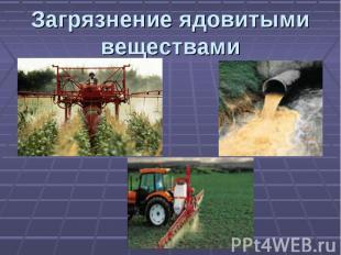 Загрязнение ядовитыми веществами