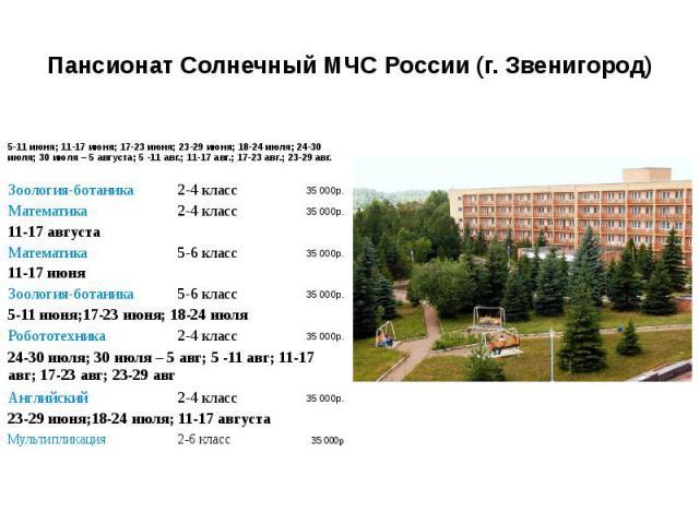 Пансионат Солнечный МЧС России (г. Звенигород)