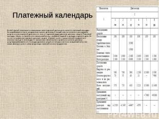 Платежный календарьОсобой формой оперативного планирования инвестиционной деятел