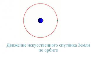 Движение искусственного спутника Земли по орбите Движение искусственного спутник