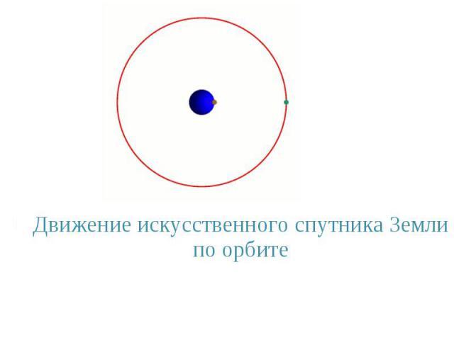 Движение искусственного спутника Земли по орбите Движение искусственного спутника Земли по орбите