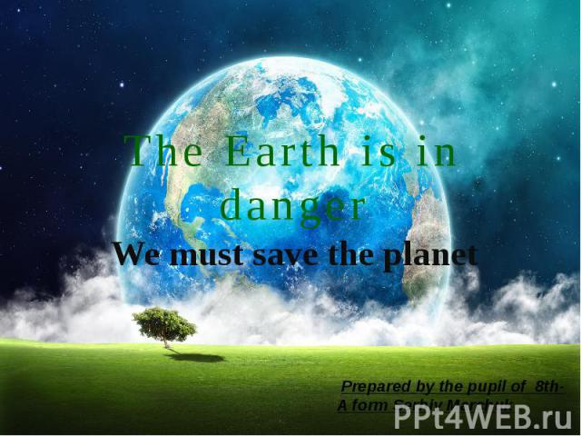 The Earth is in danger We must save the planet