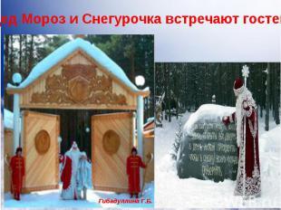 Дед Мороз и Снегурочка с радостью встречают всех гостей. Но не все могут приехат