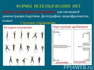 Демонстрационные программы: для наглядной демонстрации (картины, фотографии, вид