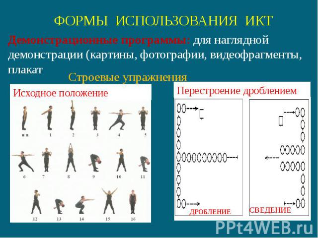 Демонстрационные программы: для наглядной демонстрации (картины, фотографии, видеофрагменты, плакат