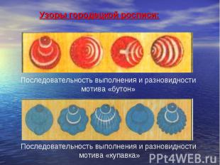 Узоры городецкой росписи: Последовательность выполнения и разновидности мотива «