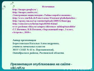 Источники: -http://images.google.ru/ ; -http://images.yandex.ru/; -Электронная э