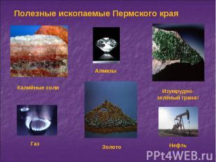 Полезные ископаемые Пермского края
