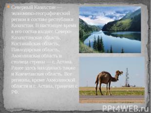 Северный Казахстан — экономико-географический регион в составе республики Казахс