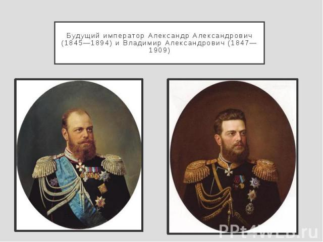 Будущий император Александр Александрович (1845—1894) и Владимир Александрович (1847—1909)