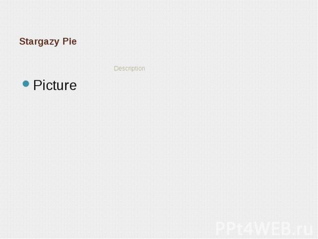 Stargazy Pie Description