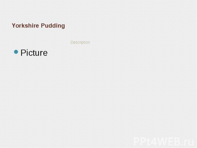 Yorkshire Pudding Description
