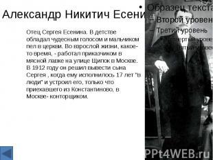 Александр Никитич Есенин