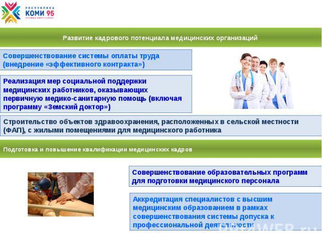 Развитие кадрового потенциала медицинских организаций