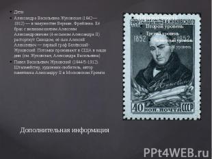Дополнительная информация Дети Александра Васильевна Жуковская (1842—1912) — в з
