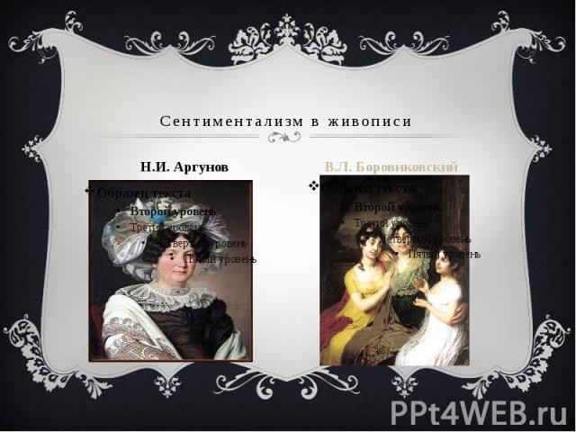 Сентиментализм в живописи Н.И. Аргунов