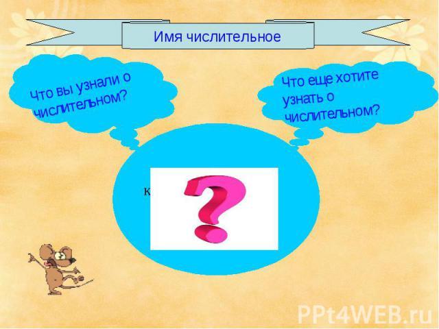 Имя числительное Что вы узнали о числительном?Что еще хотите узнать о числительном?