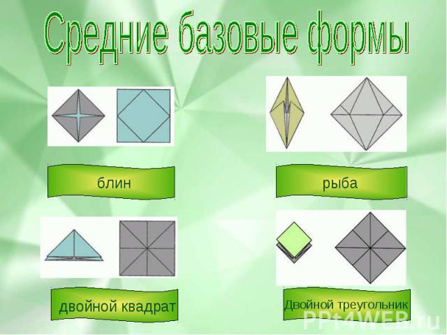 Средние базовые формы