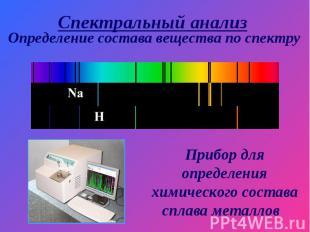 Спектральный анализ Определение состава вещества по спектру Прибор для определен