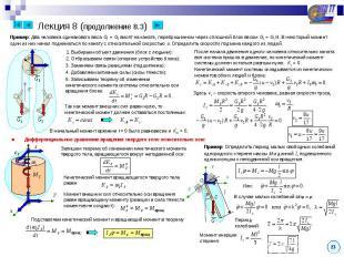 Лекция 8 (продолжение 8.3) Пример: Два человека одинакового веса G1 = G2 висят н