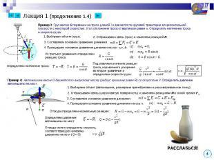 Лекция 1 (продолжение 1.4) Пример 3: Груз весом G подвешен на тросе длиной l и д