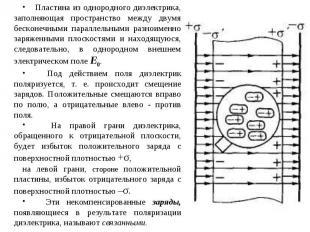 Пластина из однородного диэлектрика, заполняющая пространство между двумя бескон