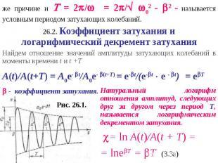 же причине и = 2/ = 2/ 02 - 2 - называется условным периодом затухающих колебани
