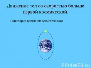 Движение тел со скоростью больше первой космической. Траектория движения эллипти