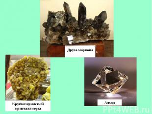 Друза марионаКрупнозернистый кристалл серыАлмаз