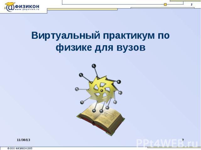 Виртуальный практикум по физике для вузов