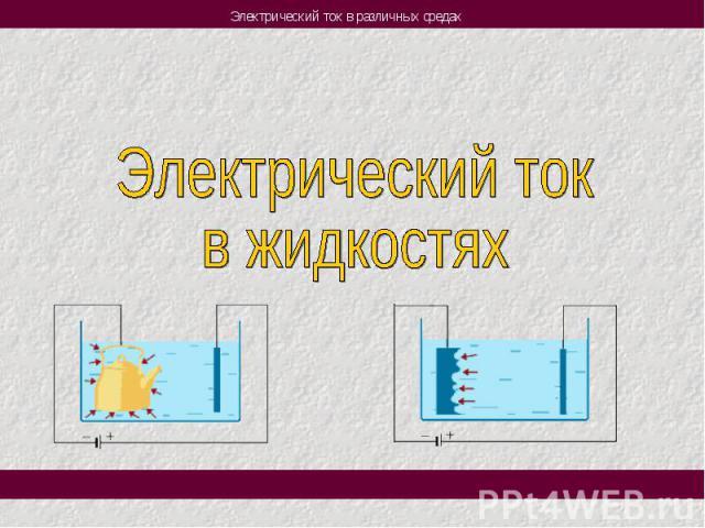 Электрический токв жидкостях