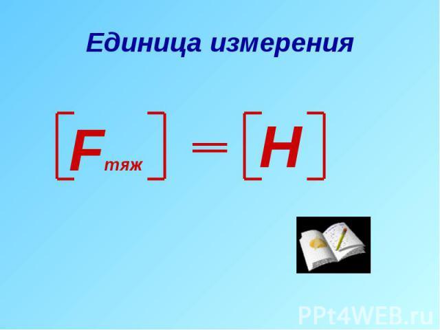 Единица измерения
