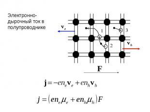 Электронно-дырочный ток в полупроводнике