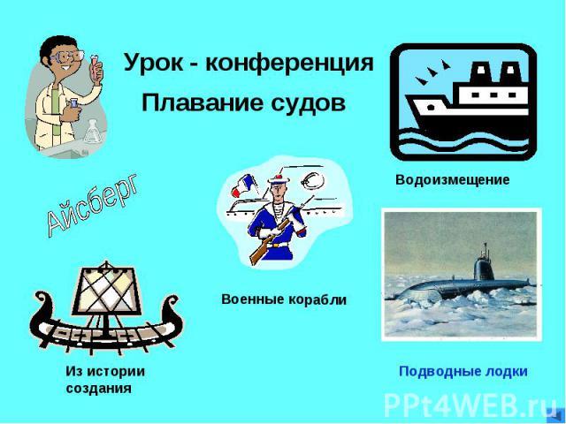 Урок - конференция Плавание судов