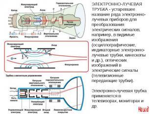 ЭЛЕКТРОННО-ЛУЧЕВАЯ ТРУБКА - устаревшее название ряда электронно-лучевых приборов