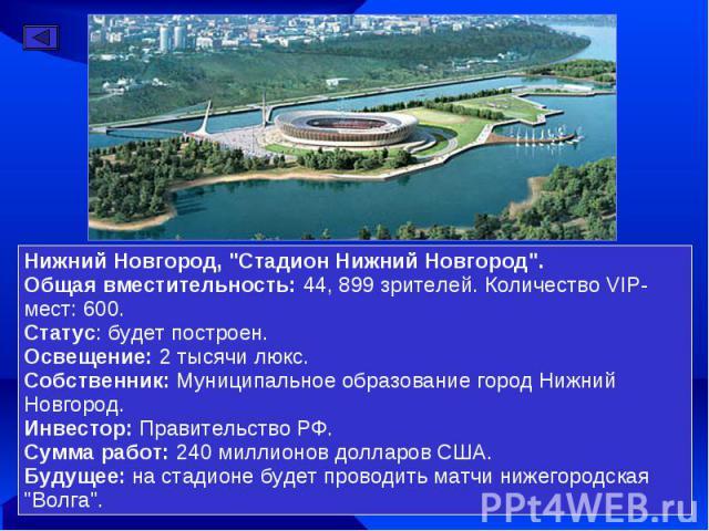 Нижний Новгород,