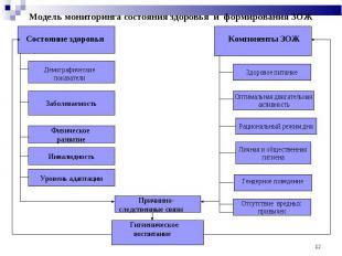 Модель мониторинга состояния здоровья и формирования ЗОЖ