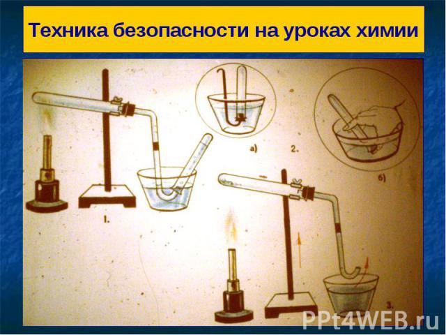Техника безопасности на уроках химии
