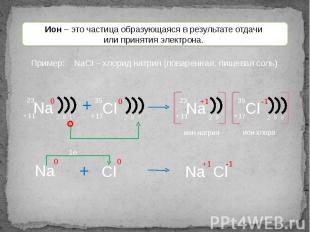 Ион – это частица образующаяся в результате отдачи или принятия электрона.