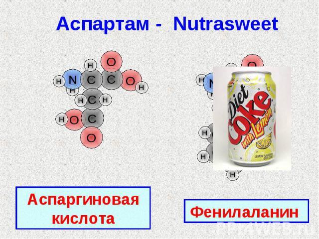 Аспартам - Nutrasweet Аспаргиновая кислотаФенилаланин