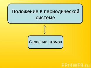 Положение в периодической системе Строение атомов