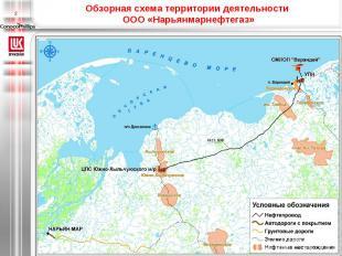 Обзорная схема территории деятельности ООО «Нарьянмарнефтегаз»