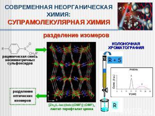 СОВРЕМЕННАЯ НЕОРГАНИЧЕСКАЯ ХИМИЯ:СУПРАМОЛЕКУЛЯРНАЯ ХИМИЯразделение изомеров