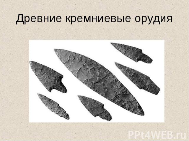 Древние кремниевые орудия